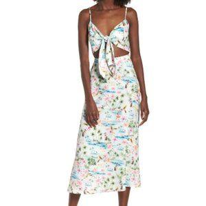 Show Me Your MuMu Moby Tie Maxi Hawaiian Dress